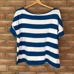 Ann Taylor size XL striped, short sleeved top